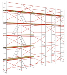 Строительные леса рамные ЛСРП 200 / ЛСРП 40 (ЛСРП-2000-40)